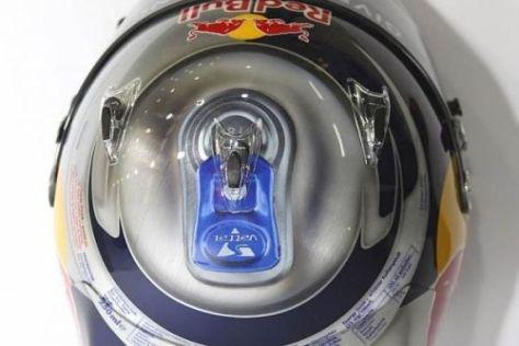 Sebastian Vettels neuer Helm im originellen Design einer Red-Bull-Dose