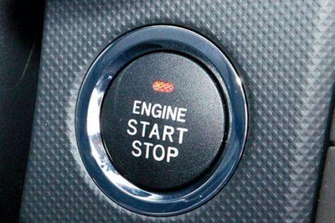 Startknopf im Toyota Auris