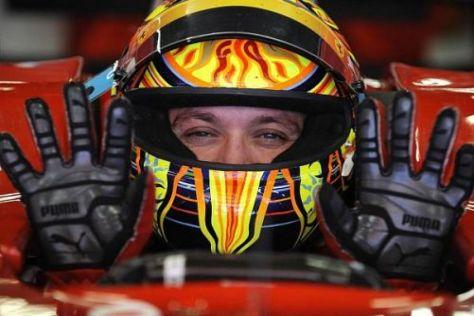 Valentino Rossi genießt seine regelmäßigen Auftritte bei Ferrari