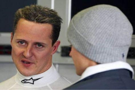 Michael Schumacher und Nico Rosberg fahren für das Mercedes-Werksteam