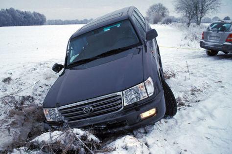 Auto fahren im Winter