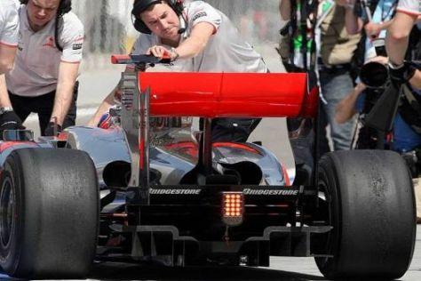 Muss McLaren den Diffusor am Heck des MP4-25 schon für Melbourne ändern?