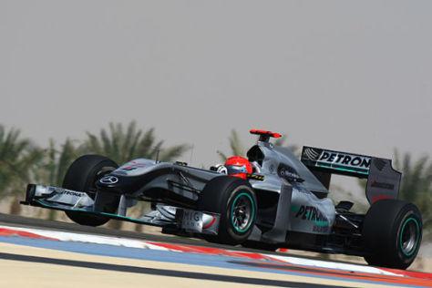 Michael Schumacher Mercedes GP in Bahrain