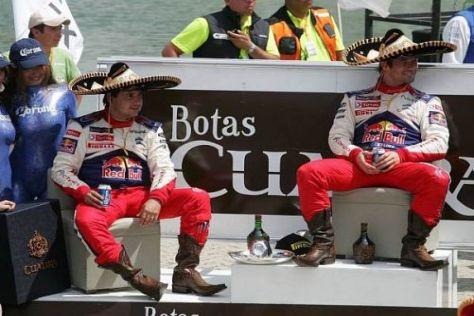 So werden in Mexiko die Sieger gefeiert: Daniel Elena und Sébastien Loeb