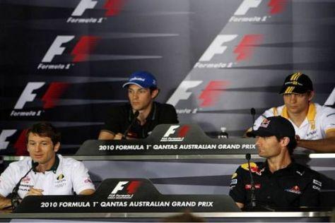 Die Pressekonferenz am Donnerstag vor dem Grand Prix von Australien
