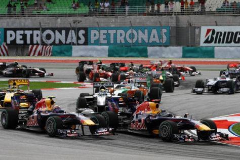 Sebastian Vettel gewinnt den Großen Preis von Malaysia 2010