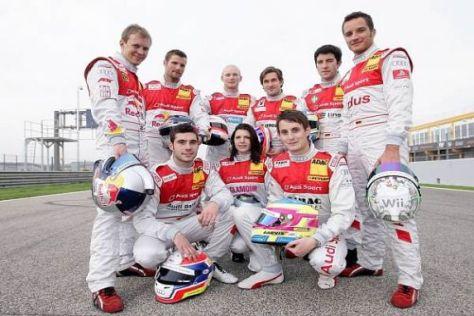 Gruppenbild mit Dame: Audi schickt eine Frau und acht Männer an den Start
