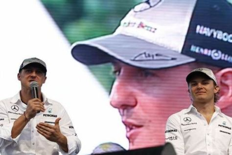 Michael Schumacher und Nico Rosberg freuen sich auf das Rennen in China