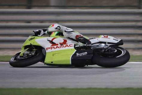 Aleix Espargaró rutschte in der letzten Kurve über das Vorderrad