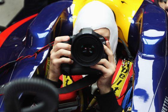 Vettel fotografiert