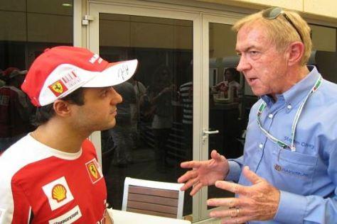 Felipe Massa im Gespräch mit seinem behandelnden Arzt Dr. Steve Olvey
