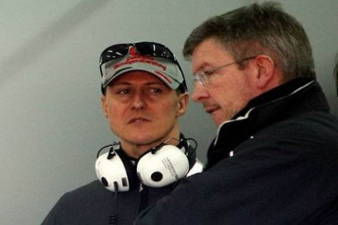 Under Pressure: Schumacher und Brawn brauchen ein Erfolgserlebnis.