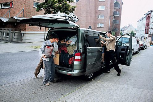 Last-Wagen: Studentenbuden-Umzug? Auch das ist für den T5 kein Problem.