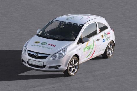 Opel Corsa Forschungsfahrzeug von Schaeffler zur Eleltro-Mobilität