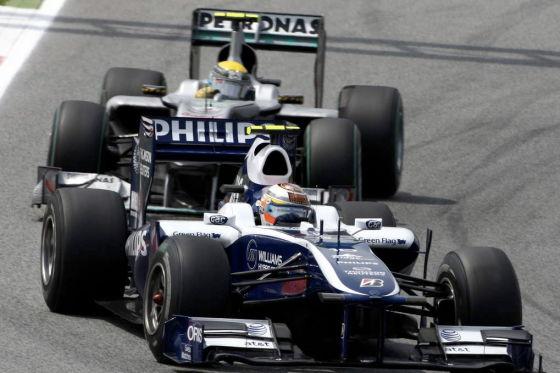 Hülkenberg vor Rosberg im GP Spanien 2010