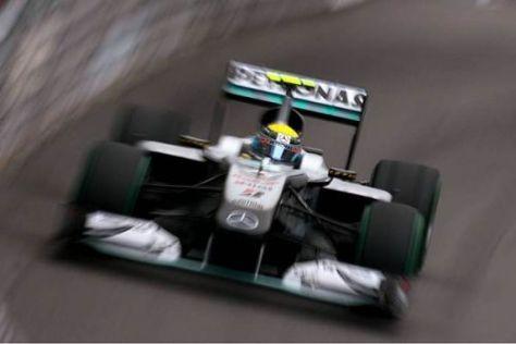 Nico Rosberg fuhr bis auf eine Zehntelsekunde an Alonso heran