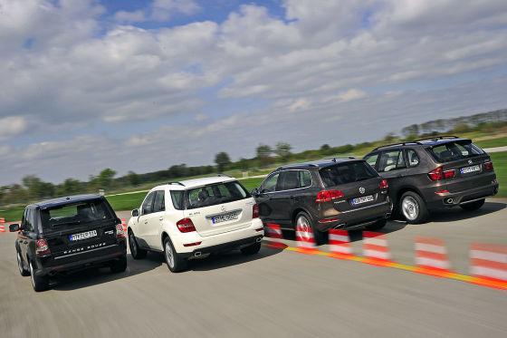 VW Touareg Mercedes M-Klasse BMW X5 Range Rover Sport