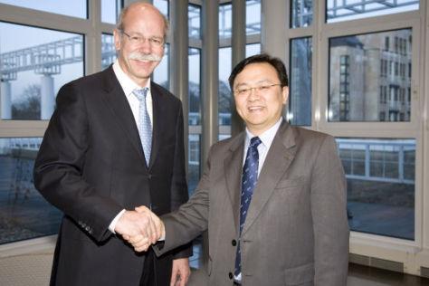 Dieter Zetsche und  Wang Chuanfu