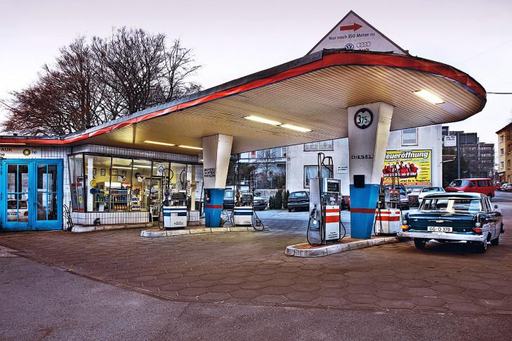Tankstelle in Wuppertal (1958)