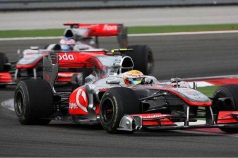Lewis Hamilton und Jenson Button lieferten sich ein hartes, aber faires Duell