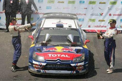 Sébastien Ogier und Julien Ingrassia feiern ihren ersten WRC-Sieg