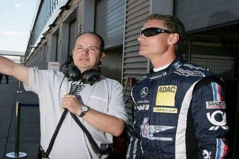 David Coulthard kann bereits in Richtung der Punkteränge blicken