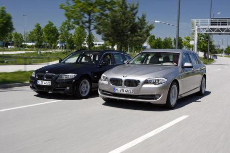 bmw 5er touring im vergleich mit dem 3er touring - autobild.de