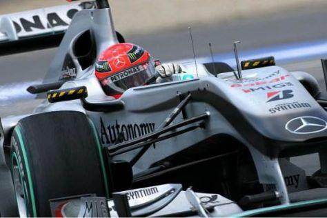 Michael Schumacher kennt die Strecke in Valencia bisher noch nicht