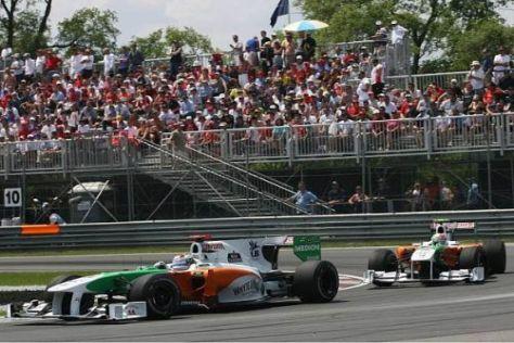 Adrian Sutil und Vitantonio Liuzzi wollen in Valencia mehr Rennglück haben