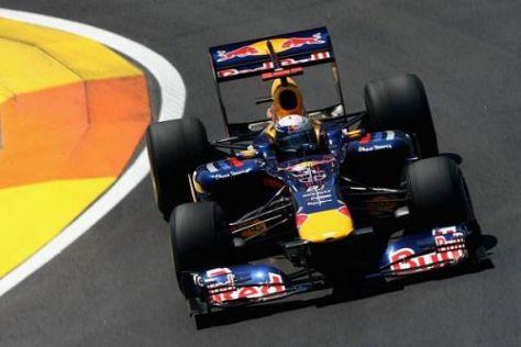 Sebastian Vettel sicherte sich nach Ablauf der regulären Zeit noch Platz eins