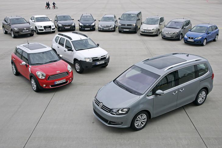 Zwölf Familienautos im Test