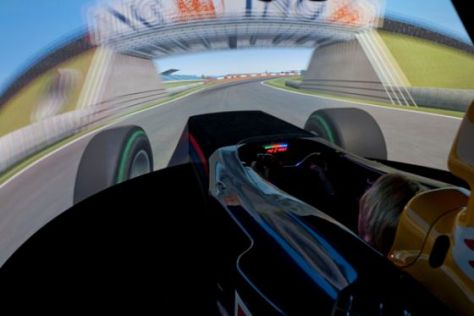Das virtuelle Formel 1-Auto im Red-Bull-Simulator