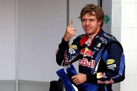 Sebastian Vettel darf sich über die Pole-Position freuen