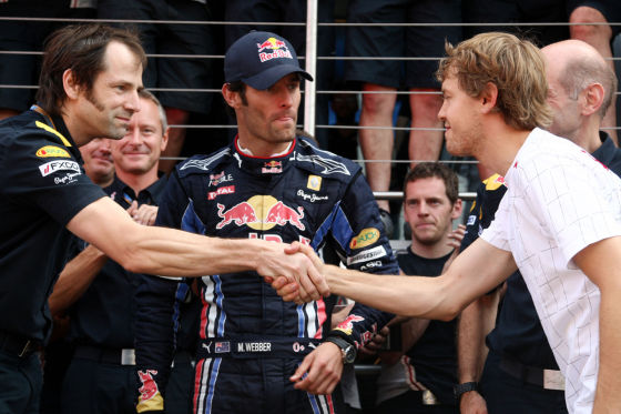 Red Bull Racing Mark Webber und Sebastian Vettel