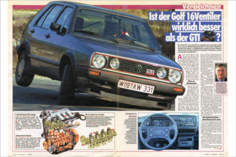 vw golf ii gti 16v im test auto bild archiv 09 1986. Black Bedroom Furniture Sets. Home Design Ideas