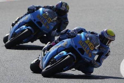 Das Suzuki-Duo war am Freitag erst auf den Plätzen 14 und 16 zu finden