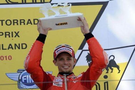 Casey Stoner feierte auf dem Sachsenring seinen dritten Podestplatz der Saison