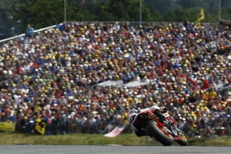 Volksfest: Die MotoGP sorgt jährlich für volles Haus am Sachsenring
