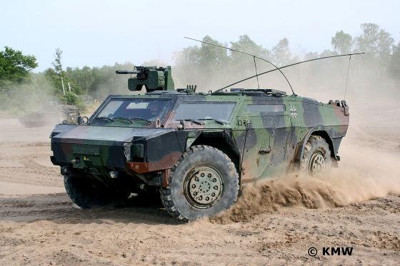 Bundeswehr Fennek Gelände