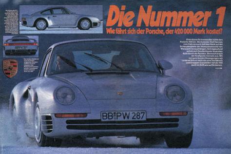 Titel Test Porsche 959 Auto Bild 1986