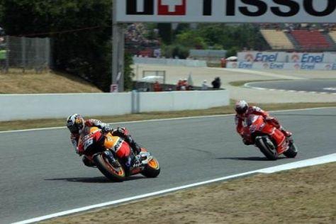 Bilden wohl 2011 bei Honda ein Paar: Dani Pedrosa und Casey Stoner