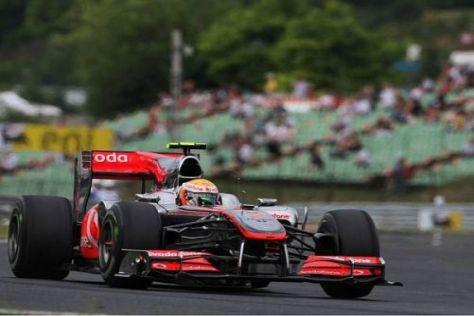 Hamilton ist mit dem Verhalten des Autos zufrieden - so gesehen kein gutes Zeichen
