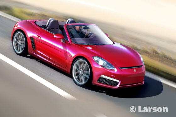 Illustration Porsche Baby-Boxster (2013)