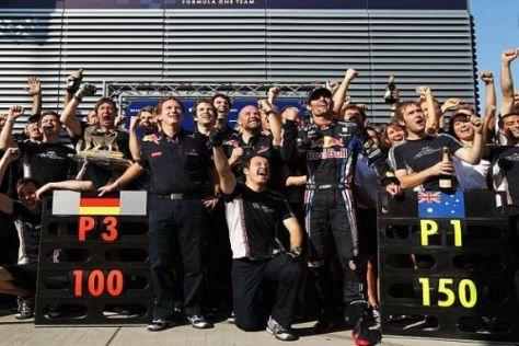 Sieg im 150. Rennen von Mark Webber und dem 100. von Red Bull Racing
