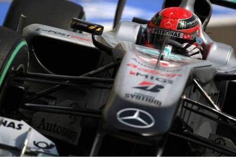 Michael Schumacher lenkt ein und hält sein Manöver im Nachhinein für