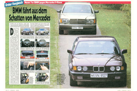 BMW 7er E32 Mercedes W126
