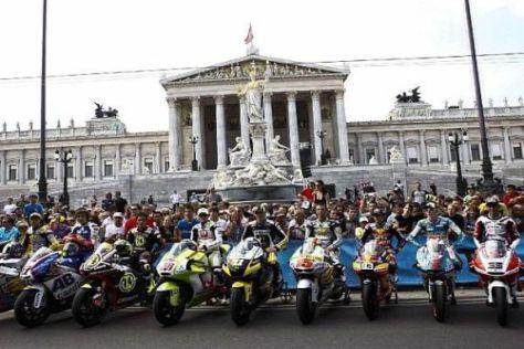 Die MotoGP begeisterte die zahlreichen Fans bei ihrem Abstecher nach Wien