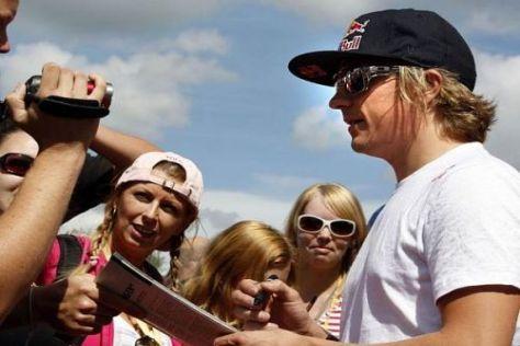 Formel-1-Champion Kimi Räikkönen fühlt sich in der Rallye sichtlich wohl