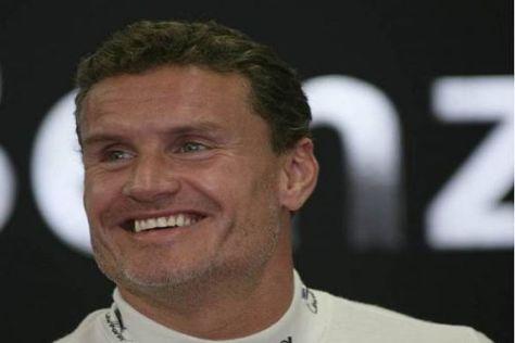 Trotz der eher bescheidenen Leistungen kann David Coulthard noch lachen