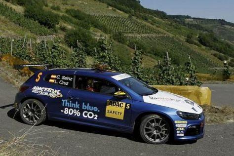 Carlos Sainz testete den Scirocco R auf Rallye-Tauglichkeit